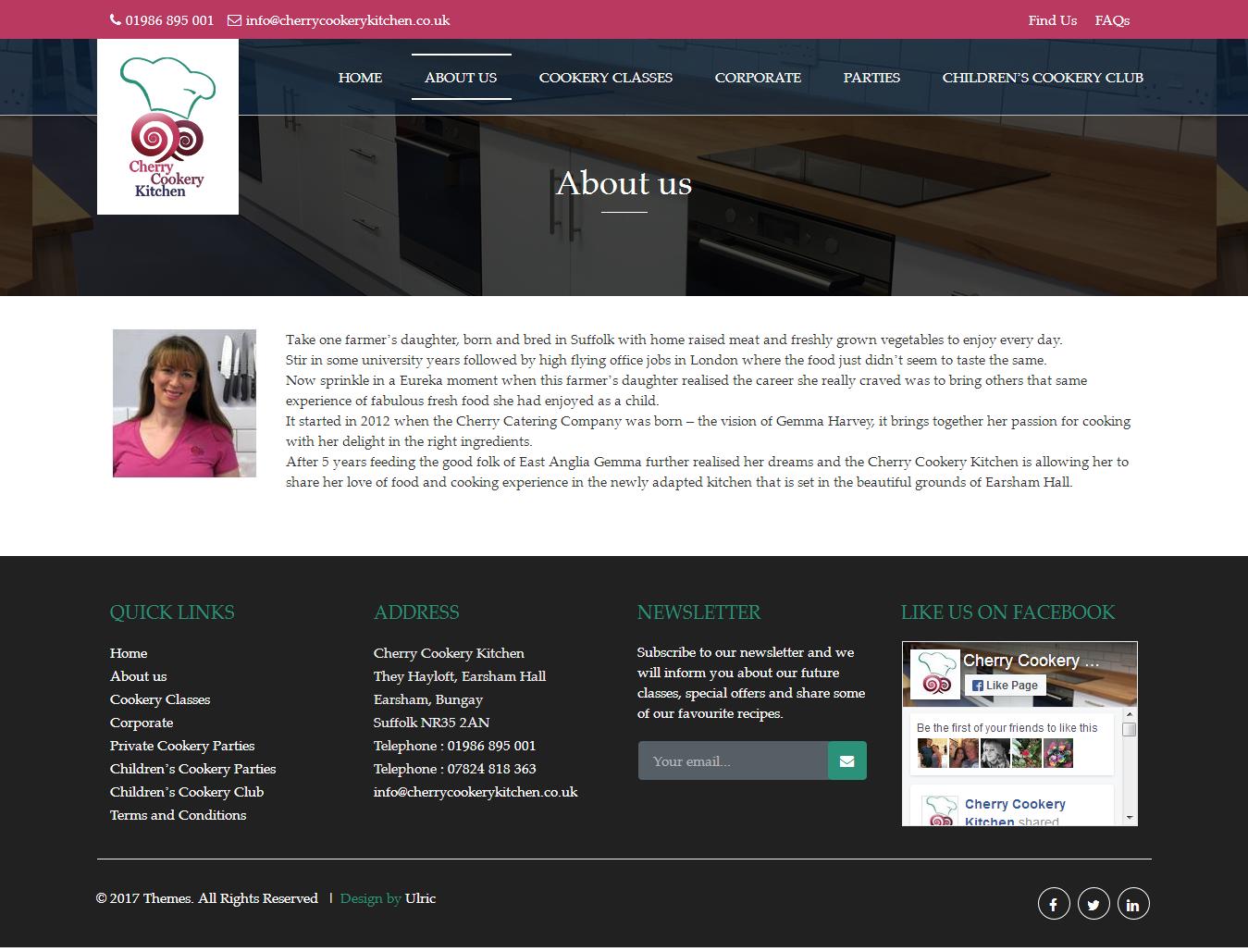 Cherry Cookery Kitchen - Web Design Diss - Website Designers in Diss ...